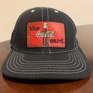 Vintage '98 Coca-Cola Card Strapback Hat